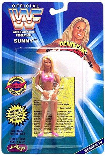 WWF / WWE Wrestling Superstars Bend-Ems Figure Series 4 Sunny (Wrestling Bend)