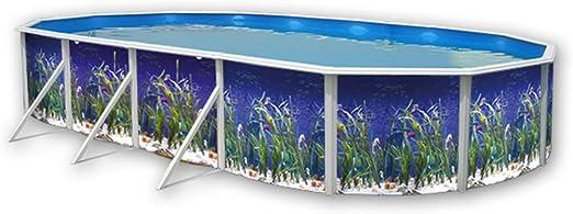 TOI - Piscina desmontable ovalada decorada modelo océano ...