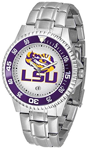 Sport State Watch Steel Tigers (Louisiana State (LSU) Tigers Competitor Watch with a Metal Band)