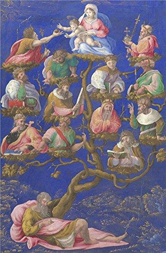 Oil painting ` Girolamo Genga A Jesseツリー`で印刷ポリエステルキャンバス、18x 27インチ/ 46x 69cm、The Bestロビーギャラリーアートとホームアートワークとギフトはこの複製品アート装飾プリントキャンバスの商品画像