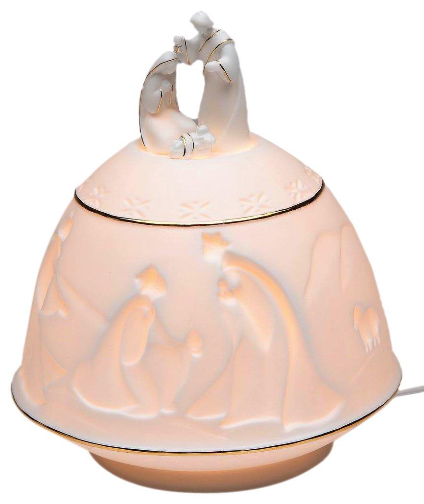 AppletreeデザインNativity夜ライト、7-inchトール、Includesライト電球とコード B007Y4ERXQ