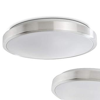 LED Deckenspot in Alu gebürstet – Wutach Badezimmer Deckenlampe ...