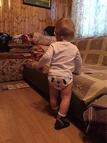 HaimoBurg Confezione da 6 Impermeabili Cotone Mutandine di Apprendimento per Bambino (1-2 Anni, A) 5