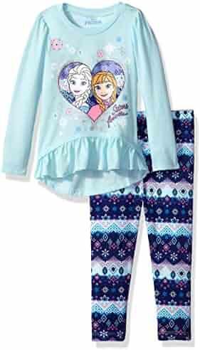 Disney Toddler Girls' Frozen 2-Piece Ruffle Top and Legging Set