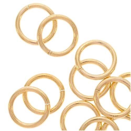 - 14K Gold Filled Open Jump Rings 6mm 20 Gauge (20)