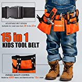 REXBETI 15pcs Young Builder's Tool Set with Real