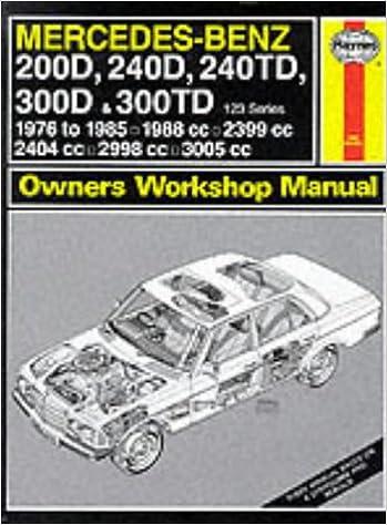 mercedes benz d d td d and td series  mercedes benz 200d 240d 240td 300d and 300td 123 series 1976 85 owner s workshop manual service repair manuals amazon co uk j h haynes