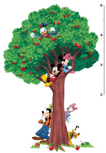 [Roommates Rmk1514Slm Mickey And Friends Peel & Stick Growth Chart] (Bt Kids Overalls)