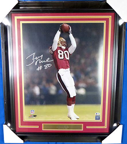 Jerry Rice Signed Framed 16x20 Photo San Francisco 49ers Memorabilia - Beckett Authentic (Jerry Rice Photograph)