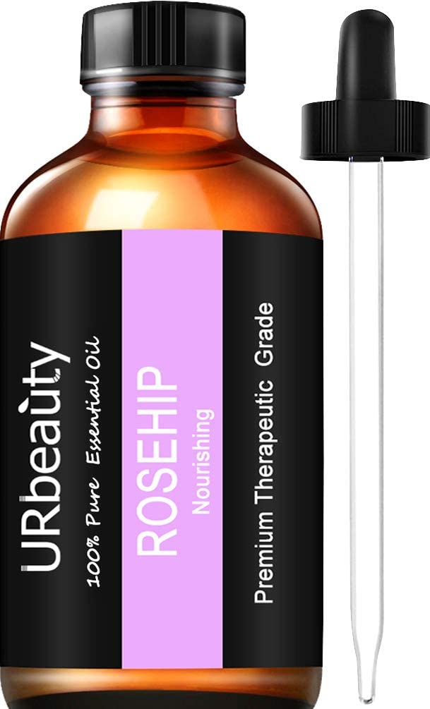URPOWER Rosehip Oil, 4 Ouce/ 120ml 100% Pure Rose Hip Oil, Natural Cold Pressed Rosehip Seed Essential Oil for Face, Nails, Hair, Skin