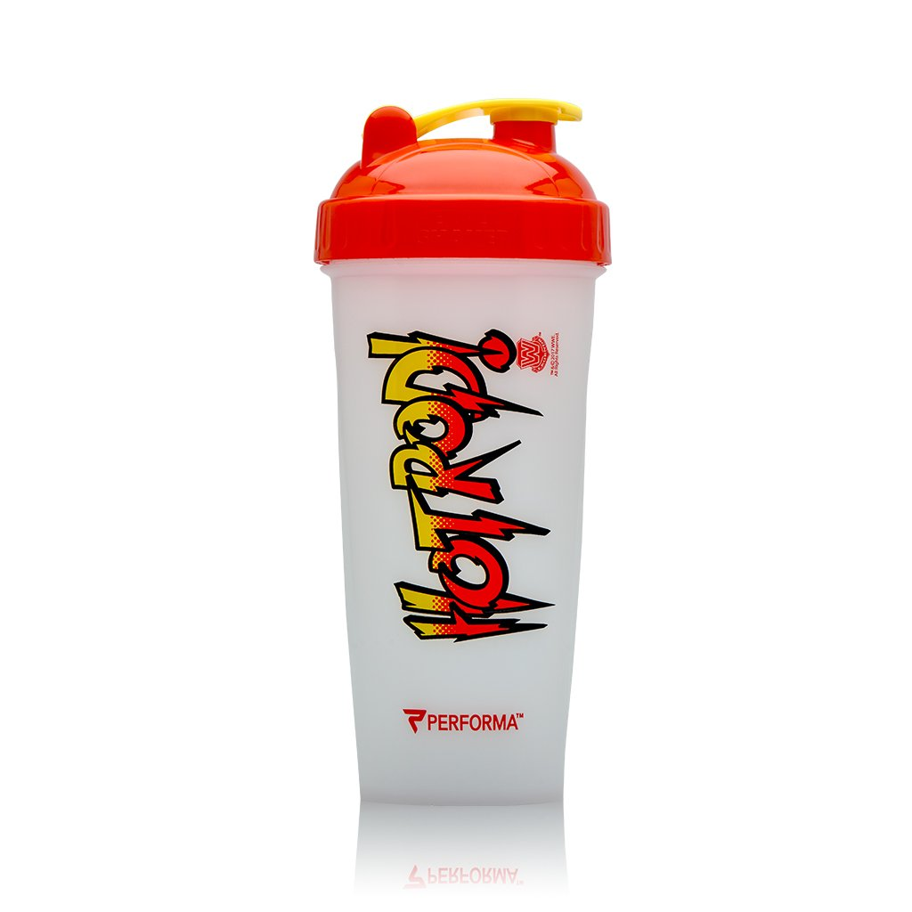 Performa Perfect Shaker - WWE Superstar Series, The Best Leak Free Bottle with Actionrod Mixing Technology for Your Sports & Fitness Needs! Dishwasher and Shatter Proof (Rowdy Roddy Piper)