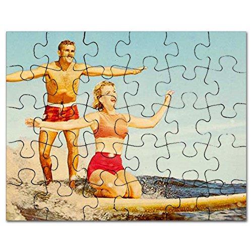 CafePress - Vintage Surfers - Jigsaw Puzzle, 30 - Well Postcard Vintage