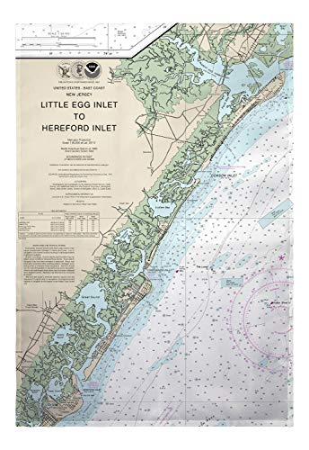 - Betsy Drake Little Egg Inlet Hereford Inlet Avalon, NH Nautical Map Large Flag