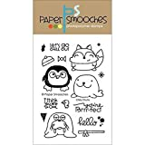 Paper Smooches Clear Stamps, 4 by 6-Inch, Chilly Chums by Paper Smooches