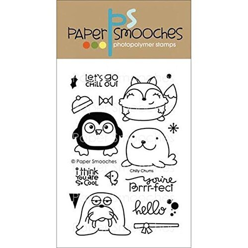 Paper Smooches Clear Stamps, 4 by 6-Inch, Chilly Chums by Paper Smooches by Paper Smooches