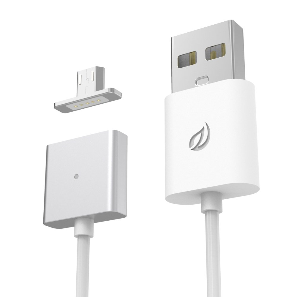 Wsken LED Fast Charging Cable Micro USB for for Android, Samsung Galaxy, HTC, Nokia, Sony and Other Tablet Smartphone Data Transfer 2.4A 1m- 1 Cable 1 Metal Plugs(Sliver)