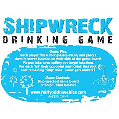 "Fairly Odd Novelties ""Who Needs a Ship? Take Your Shots Into Battle Shipwreck Drinking Game"