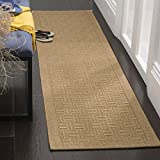 Safavieh Palm Beach Collection PAB359M Maize Sisal & Jute Runner (2' x 8')
