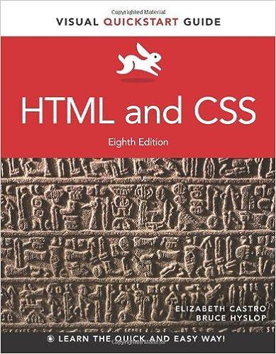 HTML and CSS: Visual QuickStart Guide (Visual QuickStart Guides)