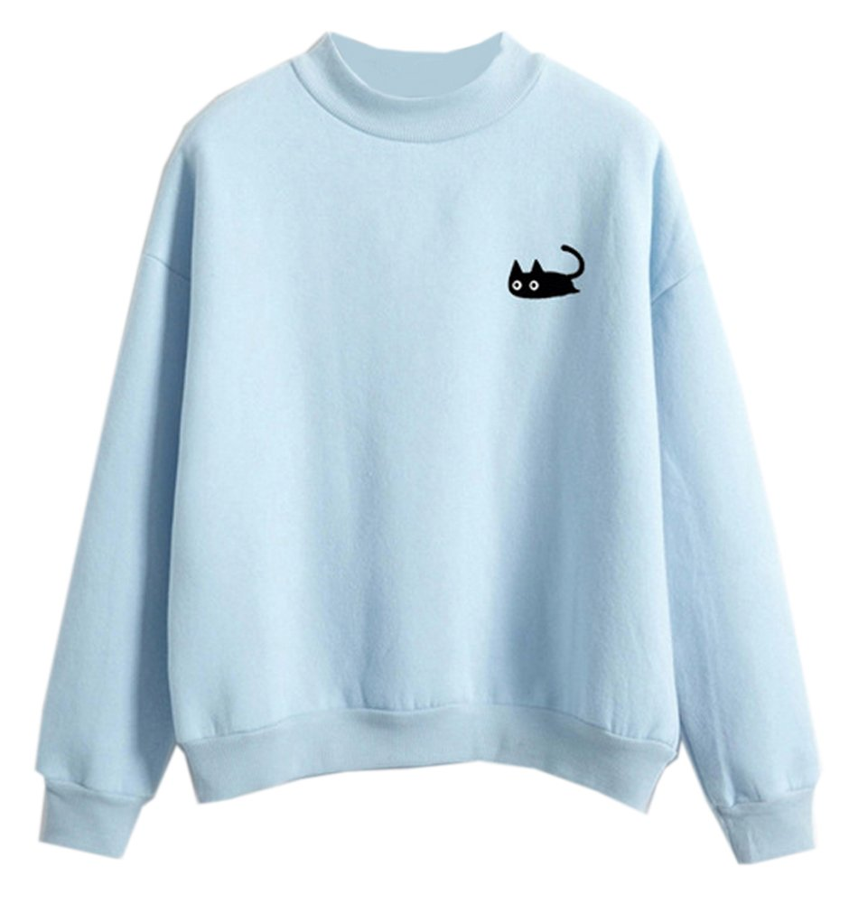 Fashionable Sweatshirts Women Harajuku Candy Pullover Casual Hoodies Blouse Tops Fashionoly