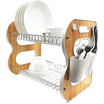 Amazon Com 304 Stainless Steel Dish Dryer Rack Cutting