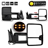 89 chevy 1500 tow mirrors - ECCPP Black Cover Towing Mirror For 1988-98 Chevy GMC C K 1500 2500 3500 Power LED Turn Signal Driver Passenger Side Mirrors Pair Set