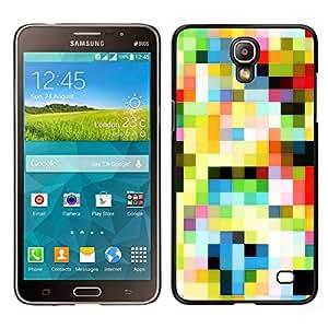 EJOY---Cubierta de la caja de protección para la piel dura ** Samsung Galaxy Mega 2 ** --Viejo modelo Tv colorido de los cuadrados Wallpaper