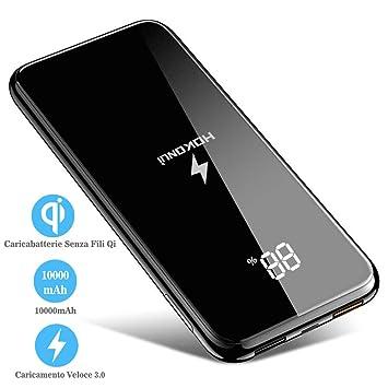 HOKONUI Cargador Inalámbrico Qi, Cargador Portátil 10000 mAh batería Externa Dual USB para Galaxy S8/s8plus/iPhone 8plus/XY para Todos los ...