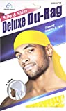 Dream Deluxe Du-Rag Yellow - Smooth & Thick, Superior Quality, Stretchable, Wrinkle Free, 100% Polyester