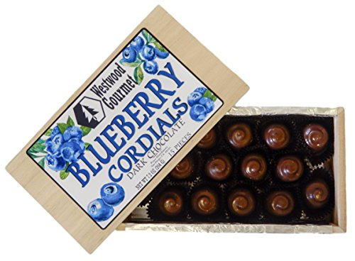 Westwood Gourmet Chocolate Cordials Gift Box (Blueberry Dark Chocolate)