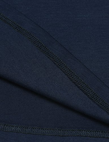Pinspark Women's Summer Sleeveless Shirt Loose Fit Racerback Tunic Tank Tops Navy Blue Medium by Pinspark (Image #5)