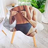 PRUNUS Round Tablecloths-Cropped of Passionate Couple HAV Sex on Bed Man Waterproof Oilproof Hotproof Table Cloth Table Multiple Styles 59'' Round