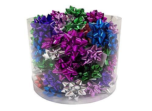 - Richman789 Bows Christmas Star Gift Metallic Mini Confetti Decor Holiday Birthday 100 Pcs