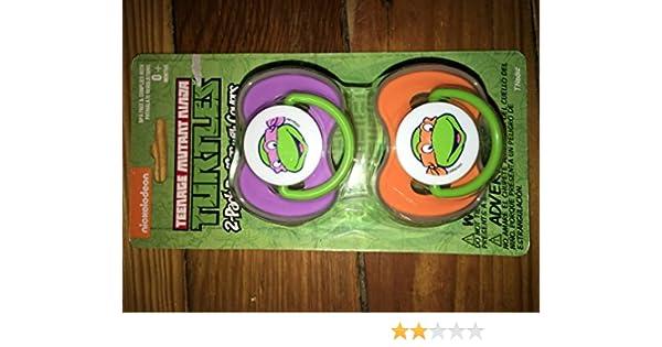 Teenage Mutant Ninja Turtles 2 pack pacifier with covers Nickelodeon