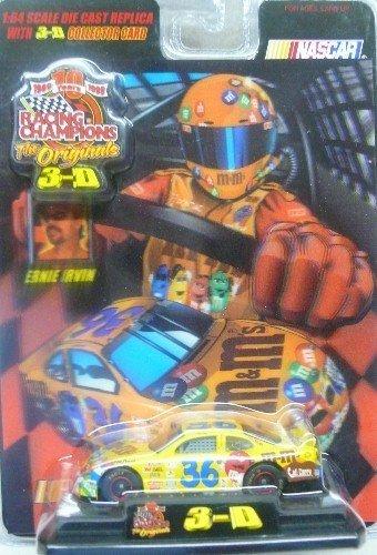 Racing Champions - The Originals 3-D - 1999 - Ernie Irvin No. 36 M&M's Pontiac Grand Prix - 1:64 Scale Die Cast Replica Car - NASCAR by Racing Champions