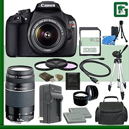 Canon EOS Rebel T5 Kit de cámara réflex digital w/18 - 55 mm IS II ...
