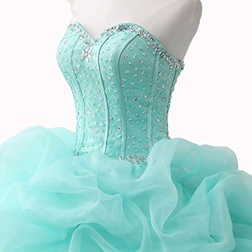 WJ1031 Women's Sequined Strapless Quinceanera Prom Ball AIJIAYI Gowns Sparkly Beaded Dresses UxwPCZqB