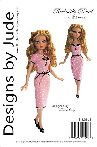 "Rockabilly Pattern for 16"" Ellowyne Wilde dolls Tonner"