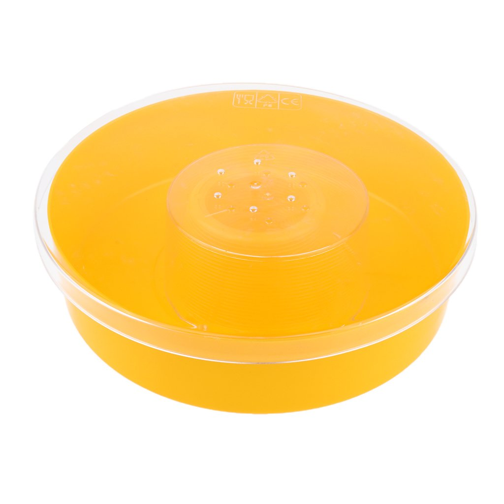 D DOLITY Bee Honey Entrance Feeder Round Bee Drinking Box Hive Fountains Pets Feeding