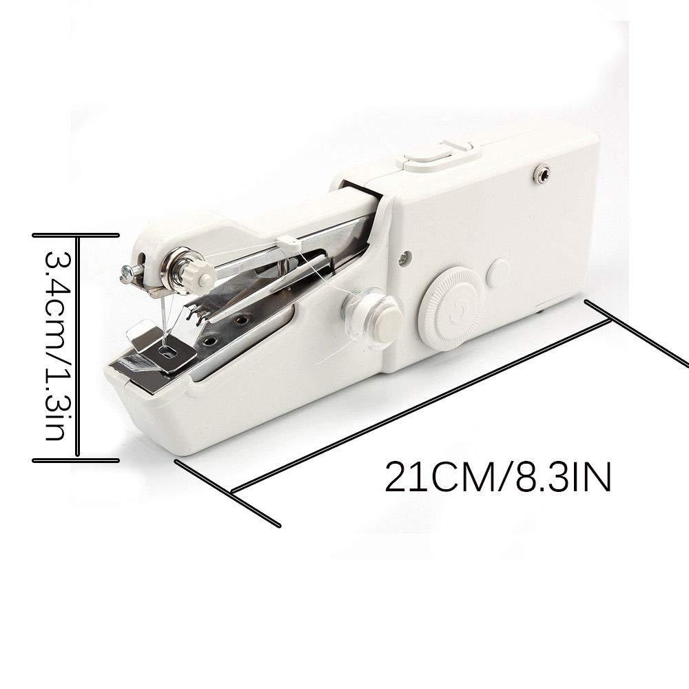 e Fai-da-Te Tenda Stoffa SAGESSE Mini Macchina da Cucire Portatile Mini DIY Macchina da Cucire Manuale Elettrico Strumento di Cucitura Rapida per Tessuti di Abbigliamento per Vestiti