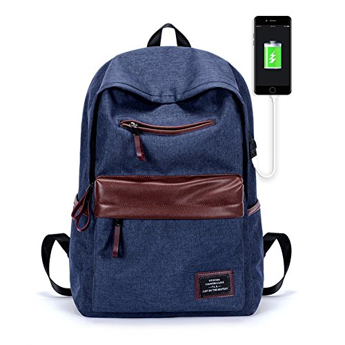Diglot Laptop Backpack Oxford Spinning Shoulder Bag Leisure and Fashion Backpack for College Lightweight Travel Daypack with USB Charging Port Fits less than 15 inch Laptop & Tablet