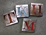 Custom Letter or number - Available in 5 sizes - Monogram- Metal Art - Reclaimed Wood and Aged Steel - by Legendary Fine Art