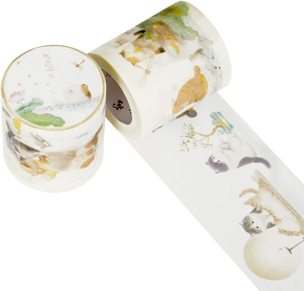 Forbidden City Culture Washi Tape Cat Series Tape, Suitable for Decoration and DIY Crafts Tape Set of 1 Roll
