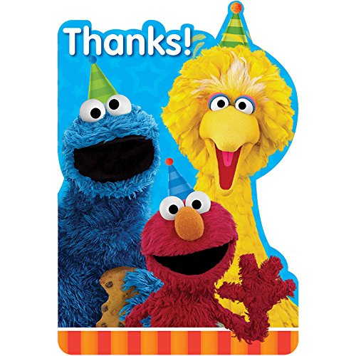Postcard Thank You Cards | Sesame Street Collection | Party Accessory ()
