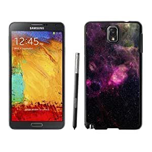 NEW Unique Custom Designed Samsung Galaxy Note 3 N900A N900V N900P N900T Phone Case With Purple Colorful Nebula Space_Black Phone Case