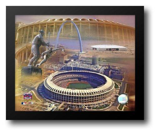 Busch Memorial Stadium - Composite 24x20 Framed Art Print ()