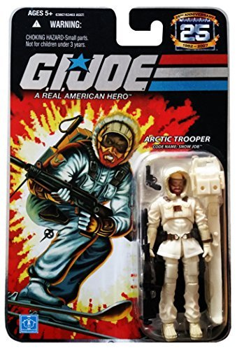 G.I. Joe 25th Anniversary: Snow Job (Arctic Trooper) 3-3/4 Inch Action Figure (Card Pit Snow)