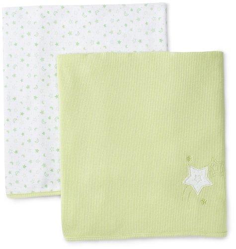 UPC 874989006250, Spasilk 2 Pack Receiving Star Blankets (Baby) - Green-One Size