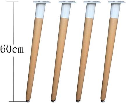 4 piezas patas altas de mesa de madera maciza oblicuas rectas ...