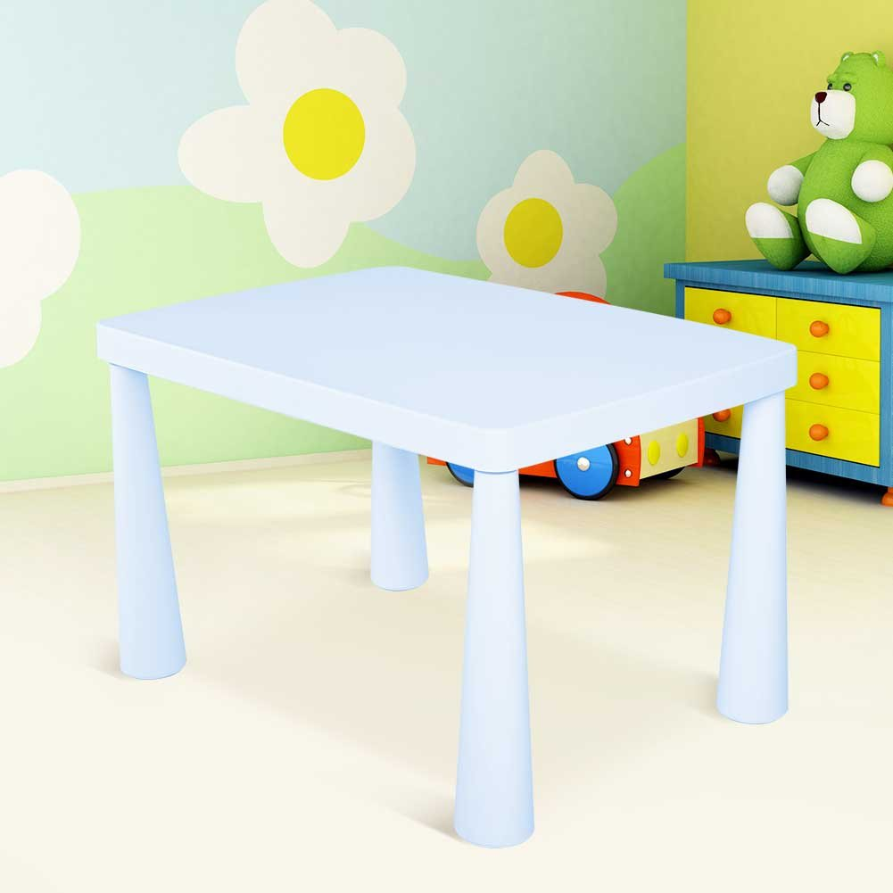Plastic Kids Children's Play Table, Stackable School Home Learning and Education Activity Table Kid's Play Learning Furniture for 1.5-8 Years Old Kids,30